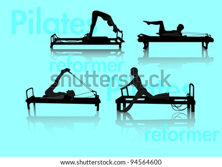Person do Pilates exercise on reformer