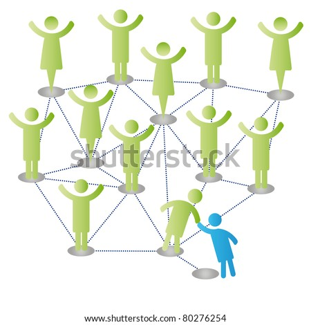 Person join people members company group - stock vector