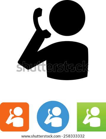 Person on the phone symbol for download. Vector icons for video, mobile apps, Web sites and print projects.  - stock vector