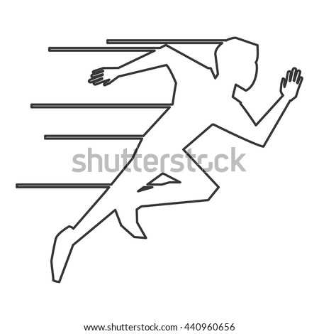 person running outline