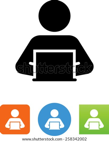 Person Sitting At Computer Clipart - Cliparts Galleries