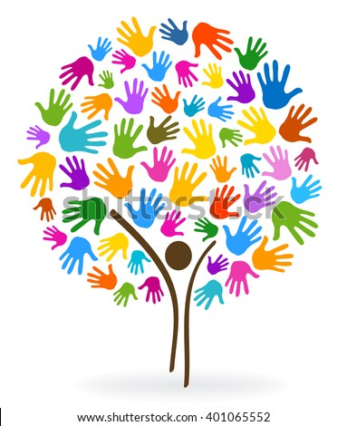 person tree hands illustration background