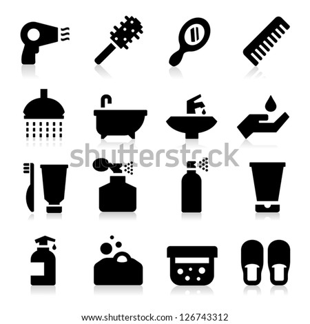 Personal Care Icons - stock vector