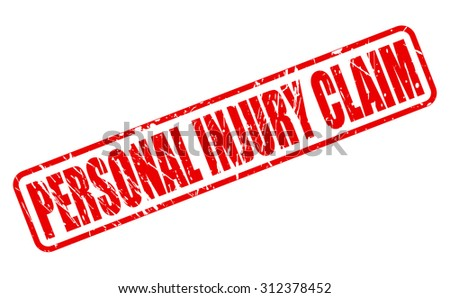 PERSONAL INJURY CLAIM red stamp text on white - stock vector