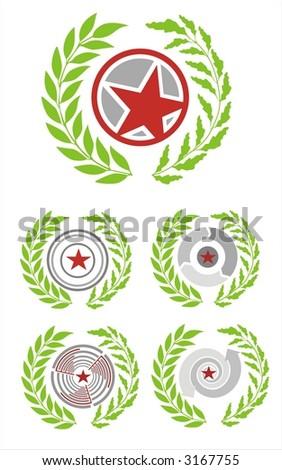 personal interpretation coat of arms Italy - stock vector