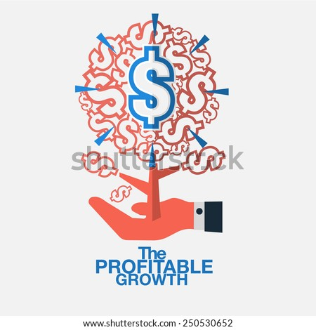 Personnel who can contribute significantly to the growth of business. - stock vector