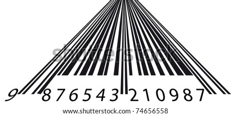 Perspective barcode - stock vector