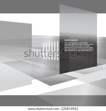 perspective black and white presentation background - stock vector