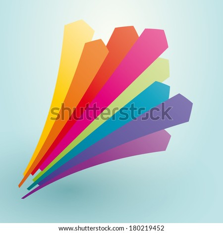 perspective colorful arrows pointing upward - stock vector