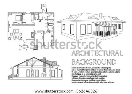 set suburban houses front view various stock vector 603671318 shutterstock. Black Bedroom Furniture Sets. Home Design Ideas