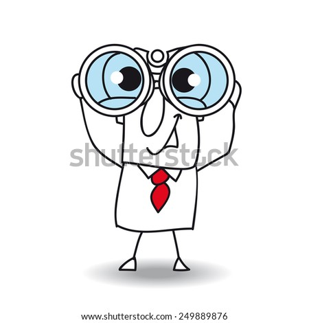Perspective for Joe. Joe is a very intelligent businessman and he anticipates many things for doing growing up his company - stock vector