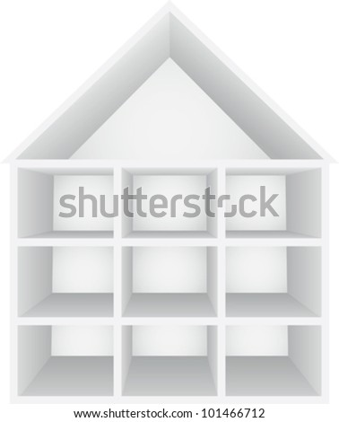 Perspective view of house - stock vector