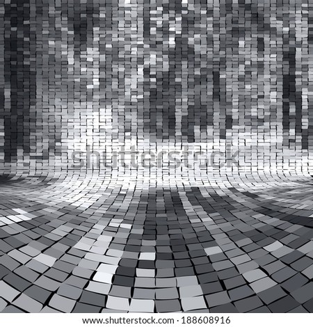 Perspective wall illustration, background - stock vector