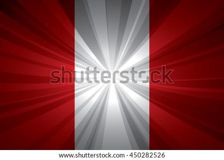 Peru flag vector illustration. - stock vector