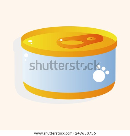 Pet cat food can theme element vector,eps10 - stock vector