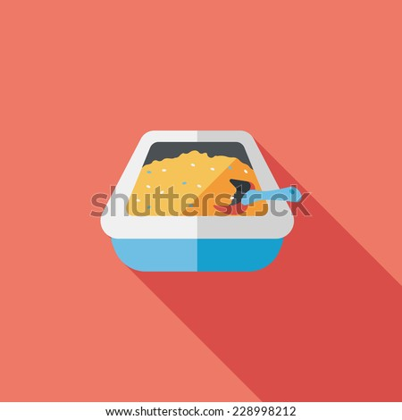 Pet cat litter box flat icon with long shadow eps10  sc 1 st  Shutterstock & Kitty Litter Stock Images Royalty-Free Images u0026 Vectors ... Aboutintivar.Com