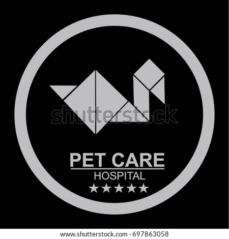 Pet Friendly Sign Vector Animal Welcome Stock Vector 697863058
