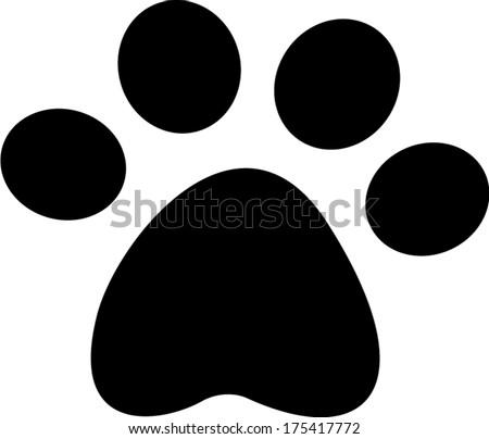 pet paw vector - stock vector
