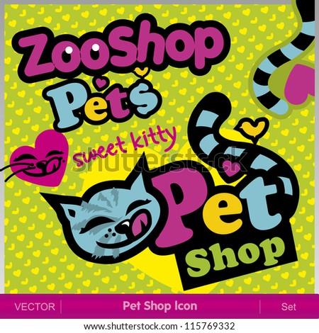 Pet Shop Icon - stock vector