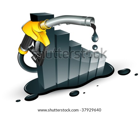Petrol decrease - stock vector