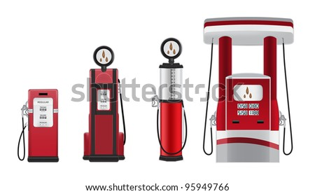 petrol pumps vector illustration - stock vector