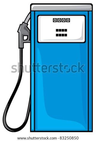 petrol station - stock vector