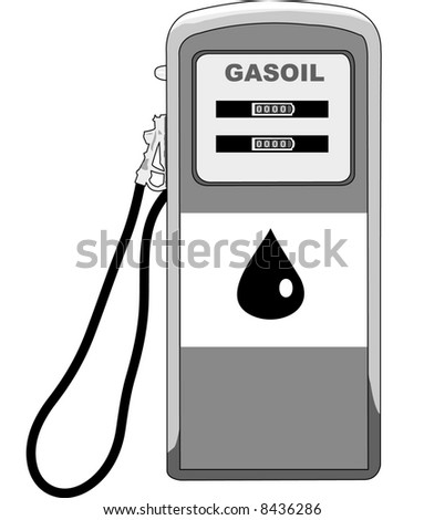Petrol Station - stock vector