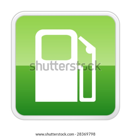Petrol station. Vector button - stock vector