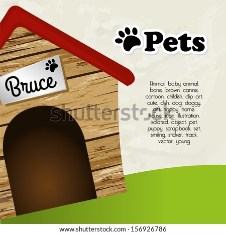 pets design  over sky background vector illustration  - stock vector