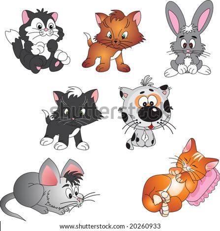 pets vector - stock vector