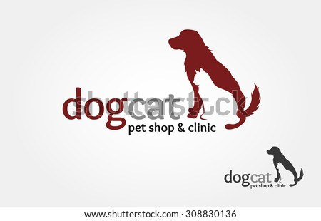 Pets Vector Logo Template this logo could be use as logo of pet shop, pet clinic, or others  - stock vector