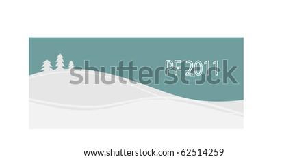 PF 2011 - stock vector