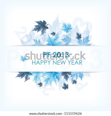 PF 2013 happy new year - stock vector