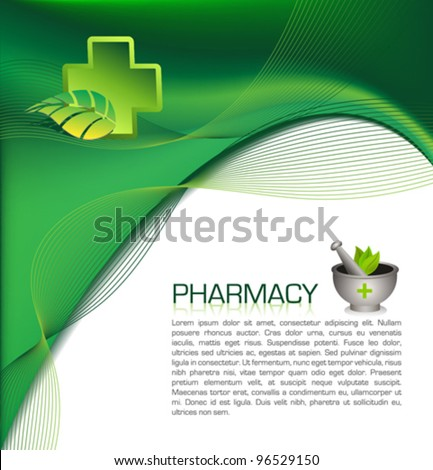 Pharmacy Brochure Template Stock Vector 96529150 Shutterstock