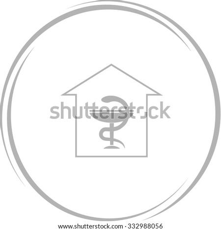 pharmacy. Internet button. Vector icon. - stock vector