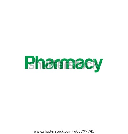 Pharmacy Letter Logo Design Stock Vector Hd Royalty Free