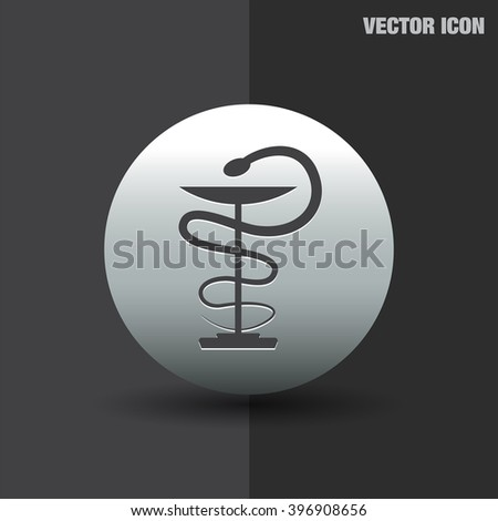 pharmacy snake symbol vector icon