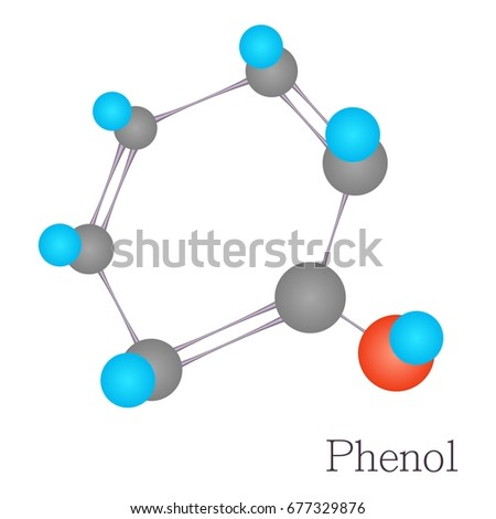 Phenols Stock Images, Royalty-Free Images & Vectors ... Phenol Molecule
