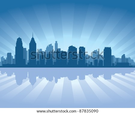 Philadelphia skyline stock photos illustrations and vector art