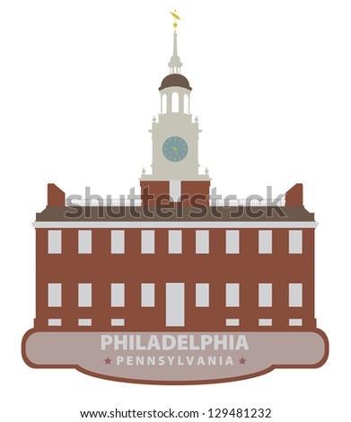 Philadelphia. Symbol city - stock vector