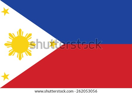 Philippines flag - stock vector