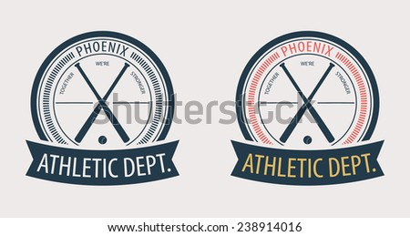 Phoenix Athletic Dept. emblem vector illustration, eps10, easy to edit