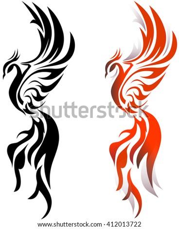 phoenix bird stock vector royalty free 412013722 shutterstock