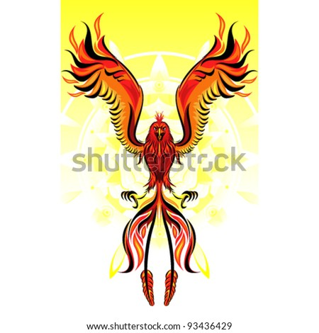 Phoenix Flame Bird - stock vector