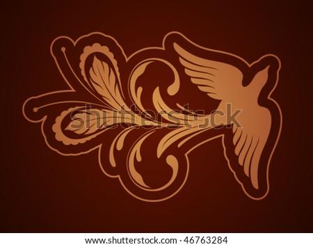 Phoenix ornament pattern - stock vector