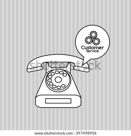 phone and customer service icon design