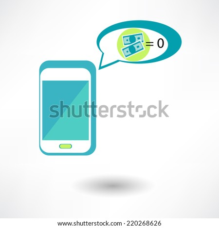 Phone and money  - stock vector