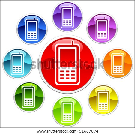 phone buttons - stock vector