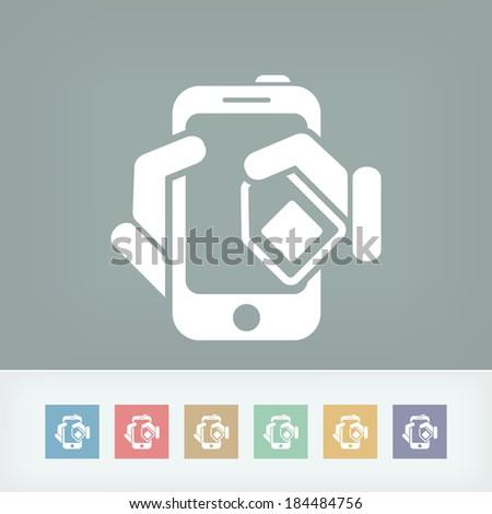 Phone card icon - stock vector