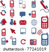 phone & connection icons, signs, vector illustrations - stock vector